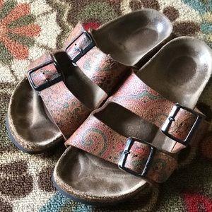 Birkenstock Paisley Brown Sandals Sz 37
